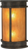 Meyda Tiffany 146894 Wyant Pocket Lantern Gilded Tobacco / New Mica Acrylic Fluorescent Wall Mounted Lamp