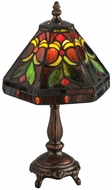 Meyda Tiffany 146951 Middleton Tiffany Mahogany Bronze Table Top Lamp