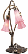 Meyda Tiffany 14728 Pink Pond Lily Traditional Accent Lighting Table Lamp
