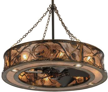 Meyda Tiffany 147376 Whispering Pines Country Burnished Copper Home Ceiling Fan