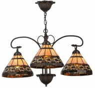 Meyda Tiffany 147729 Ilona Tiffany Custom;Mahogany Bronze Lighting Chandelier