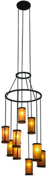 Meyda Tiffany 148671 Cartier Modern Timeless Bronze / Amber Mica Multi Pendant Light