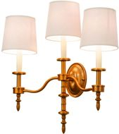 Meyda Tiffany 148901 Toby Brass Tint Wall Lighting Fixture
