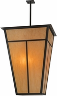 Meyda Tiffany 149259 T Mission Mission Timeless Bronze / Earth Marble Entryway Light Fixture
