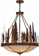 Meyda Tiffany 149734 Ironwood Country Rusty Nail Ceiling Light Pendant