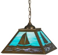 Meyda Tiffany 150186 Sailboat Country Antique Copper Drop Ceiling Lighting