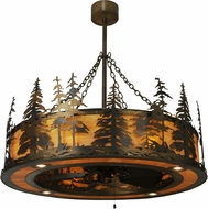 Meyda Tiffany 150260 Tall Pines Country Burnished A/C (Dark) New Mica Acrylic Home Ceiling Fan