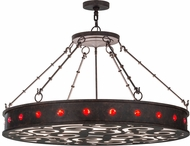 Meyda Tiffany 150383 Jules Contemporary Cajun Spice / White Acrylic Red Baubles Hanging Light
