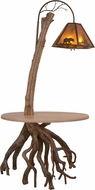 Meyda Tiffany 150582 Birchwood Rustic Antique Copper / Amber Mica Floor Lighting