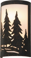 Meyda Tiffany 150678 Tall Pines Ada Country Copper Rust / White Acrylic Wall Light Sconce