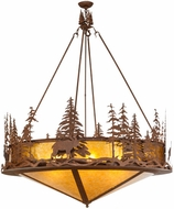 Meyda Tiffany 151255 Moose at Dusk Country Rust / Amber Mica Hanging Light
