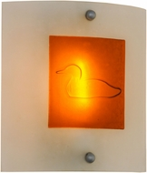 Meyda Tiffany 151394 Metro Fusion Loon Contemporary Clear / Amber Bas Relief Dragonfly Light Sconce
