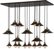 Meyda Tiffany 151910 Revival Chic Contemporary Black Multi Hanging Pendant Light
