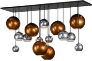 Meyda Tiffany 151941 Bola Metalica Modern Black Multi Drop Lighting