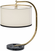 Meyda Tiffany 152099 Cilindro Madrona Modern Faux Black Marble W / White Graining Table Lighting