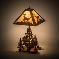 Meyda Tiffany 15268 Lone Deer Rustic Earth Table Lamp