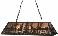 Meyda Tiffany 153038 Tall Pines Country Oil Rubbed Bronze / Silver Mica Kitchen Island Lighting