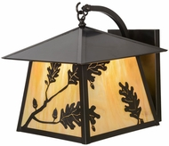 Meyda Tiffany 153182 Stillwater Oak Leaf Country Bai Craftsman Exterior Light Sconce