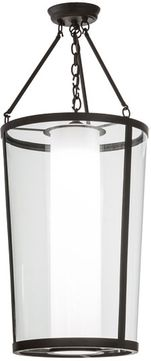 Meyda Tiffany 153383 Cilindro Tapered Contemporary Oil Rubbed Bronze / Clear Glass Flush Mount Light Fixture