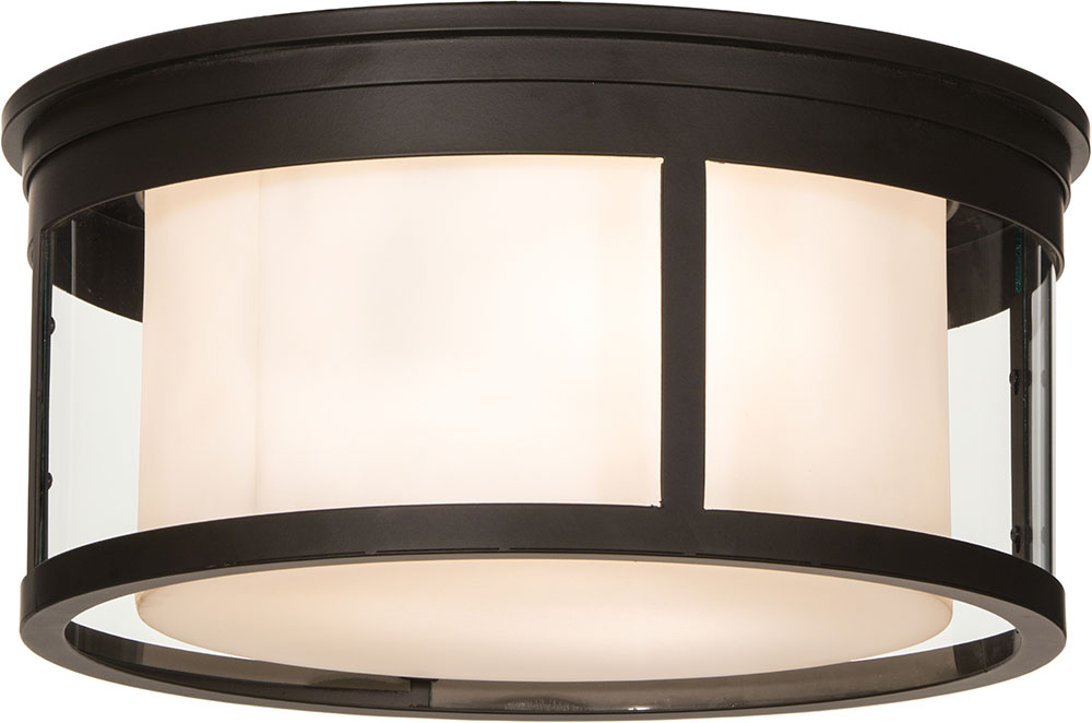 Meyda Tiffany 153386 Cilindro Campbell Oil Rubbed Bronze Flush Mount Lighting Fixture Loading Zoom