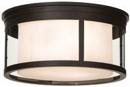 Meyda Tiffany 153386 Cilindro Campbell Oil Rubbed Bronze Flush Mount Lighting Fixture