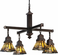 Meyda Tiffany 153607 Sierra Prairie Mission Tiffany Mahogany Bronze Chandelier Lighting