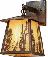 Meyda Tiffany 153778 Reeds & Cattails Country Bai Vintage Outdoor Wall Sconce Lighting