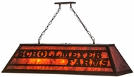 Meyda Tiffany 153916 Personalized Schollmeyer Farms Contemporary Cafe Noir / Mica Acrylic Island Light Fixture