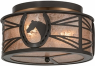 Meyda Tiffany 153941 Horseshoe Country Timeless Bronze / Silver Mica Ceiling Light