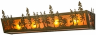 Meyda Tiffany 153968 Tall Pines Rustic Antique Copper / Amber Mica Bath Lighting Sconce