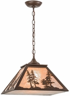 Meyda Tiffany 153998 Tall Pines Country Cafe Noir / Silver Mica Drop Lighting Fixture