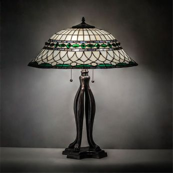 Meyda Tiffany 15405 Tiffany Roman Tiffany Mahogany Bronze Table Lighting