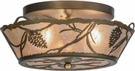 Meyda Tiffany 154080 Whispering Pines Rustic Antique Copper / Silver Mica Flush Mount Lighting