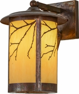 Meyda Tiffany 154258 Fulton Branches Rustic Earth Marble (S / B Out) Hammered Vintage Copper Outdoor Wall Light Sconce