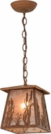 Meyda Tiffany 154309 Reeds & Cattails Country Rust / Silver Mica Mini Hanging Pendant Lighting