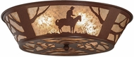 Meyda Tiffany 15438 Cowboy Country Rust Flush Mount Lighting Fixture