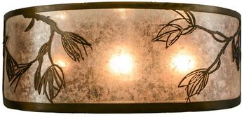 Meyda Tiffany 154441 Lone Pine Country Antique Copper / Silver Mica Lamp Sconce