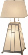 Meyda Tiffany 154830 Double Bar Mission Contemporary Extreme Chrome / Ca Table Lighting