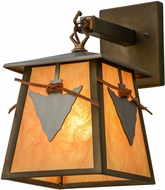 Meyda Tiffany 154991 Arrowhead Country Antique Copper / New Mica Acrylic Outdoor Sconce Lighting