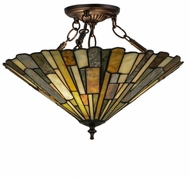 Meyda Tiffany 155108 Delta Tiffany Flush Ceiling Light Fixture