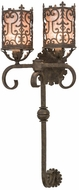 Meyda Tiffany 155181 Oskar Antiquity / Silver Mica Lamp Sconce