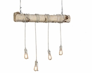 Meyda Tiffany 155182 Hounds Tooth Contemporary Made From Birch Log Multi Pendant Kitchen Island Lighting