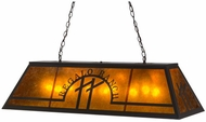Meyda Tiffany 155265 Personalized Regalo Ranch Rust / Silver Mica Island Light Fixture