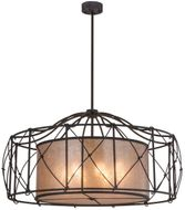 Meyda Tiffany 156197 Aspen Antique Iron Gate / Silver Mica Hanging Pendant Lighting