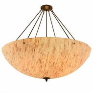 Meyda Tiffany 156269 Madison Contemporary Timeless Bronze / Natural Horn Sb In Ceiling Light Fixture
