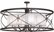 Meyda Tiffany 156297 Penelope Modern Oil Rubbed Bronze Ceiling Lighting Fixture