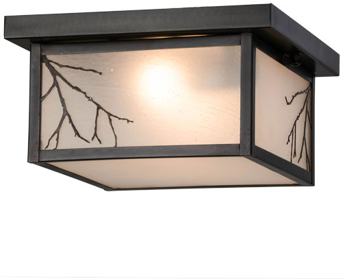 sports shoes a9351 e483b Meyda Tiffany 157051 Hyde Park Branches Rustic Flush Mount Lighting Fixture