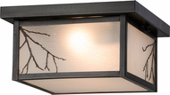 Meyda Tiffany 157051 Hyde Park Branches Rustic Flush Mount Lighting Fixture