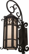 Meyda Tiffany 157311 Caprice Antique Iron Gate / Clear Seedy Glass Lamp Sconce