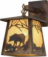 Meyda Tiffany 157330 Bear at Dawn Country Dark Burnished A/C Bai Wall Light Fixture
